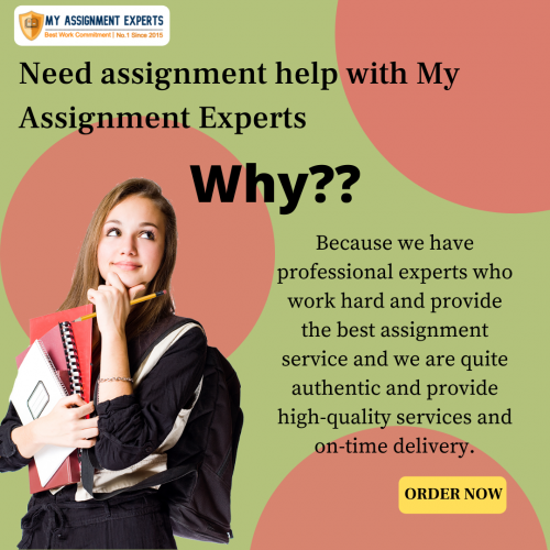 Need assignment help with My Assignment Experts