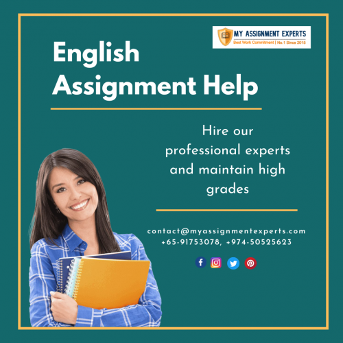 English Assignment Help By Top Ph.D. Experts  Get 50% OFF