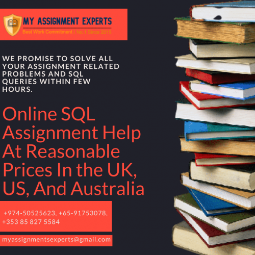 Online SQL Assignment Help At Reasonable Prices In the UK, US, And Australia